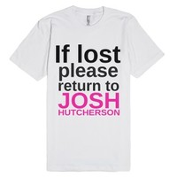 Please return to-Unisex White T-Shirt