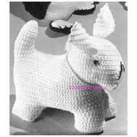 Crochet TOY DOG Pattern Crochet Amigurumi Dog Crochet Stuffed Animal Vintage Pattern Digital Download