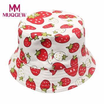 MUQGEW Summer Boys Girls Hat 2018 Fashion Casual Toddler Baby Kids Boys Girls Floral Pattern Bucket Hats Sun Helmet Cap 50