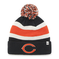 NFL Chicago Bears '47 Brand Breakaway Cuff Knit Hat with Pom, Navy, One Size