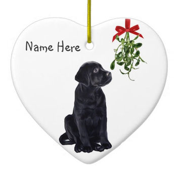 Black Lab Ornament - Black Lab Art 8M - Labrador Ornament - Lab Dog - Black Dog Ornament - Labrador Retriever - Unique Christmas Ornaments
