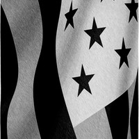 Patriotic at the beach, 30x62 towel, US flag pencils, America in black & white