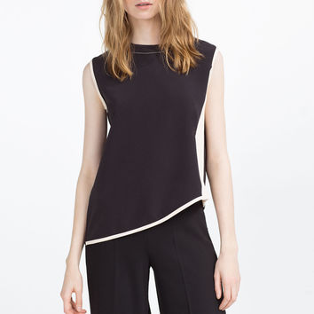 CONTRAST TOP - TOPS-SALE-WOMAN | ZARA United Kingdom