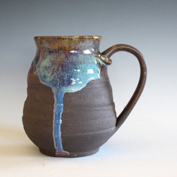 DISCOUNTED Mug, 18 oz, handmade ceramic cup, handthrown mug, ceramic stoneware pottery mug unique coffee mug ceramics and pottery