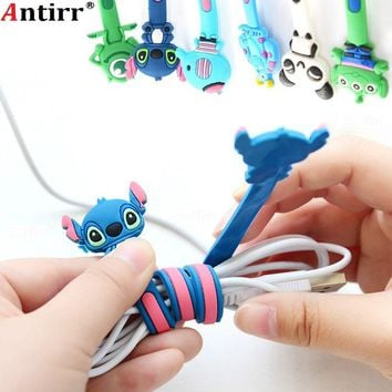 Cartoon Multipurpose phone Wire Cord Organizer protector Earphone Usb Cable Winder Desktop Data line Collation Management clip