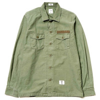"""Cliff"" L/S Military Shirt Olive"