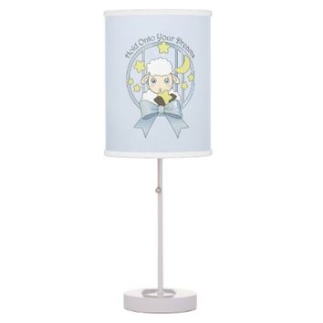 Cute Animal Table Lamps for Kids Bedrooms: Girl Birthday or Baby Shower Gift Idea: Kawaii Lamb, Moon, and Stars: Hold Onto Your Dreams