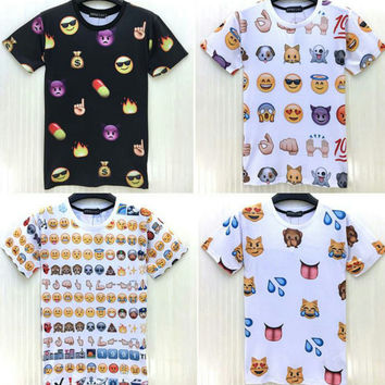 Emoji Shirt Custom all over print shirt s - xl