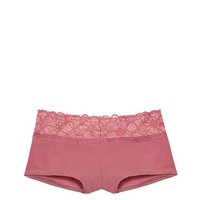VICTORIA'S SECRET Tropical lace trim Hipster panty Small Soft Begonia