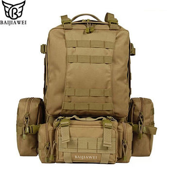 80 Liter Large Capacity Multifunction Canvas Travel Backpack - Can be Disassembled - Trekking Rucksacks