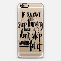 Can't Stop Don't Stop (black) iPhone 6 case by Glitter & Bold | Casetify