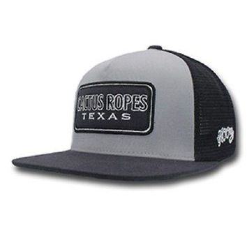 "HOOey Hat NEW FOR 2018 ""CR027"" Hooey Cactus Ropes, Grey / Black Trucker - OSFA"