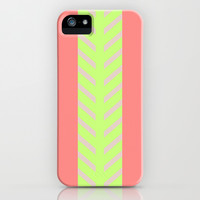 NICE IN NEON iPhone & iPod Case by Rebecca Allen