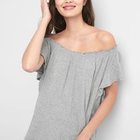 Smocked off-shoulder top | Gap