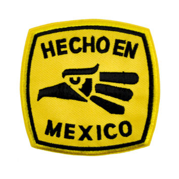 Made in Mexico Patch Iron on Applique Alternative Clothing Hecho En