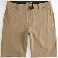 Nitrous Black Admiral Mens Hybrid Shorts - Boardshorts And Walkshorts In One Khaki  In Sizes