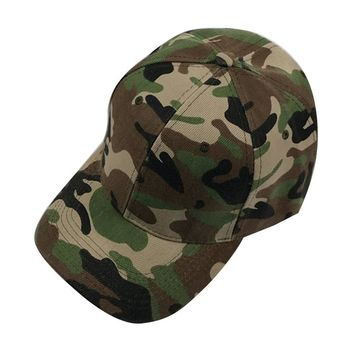 Mens hat camo camouflage snapback baseball hunting cap U.S. Military Army style