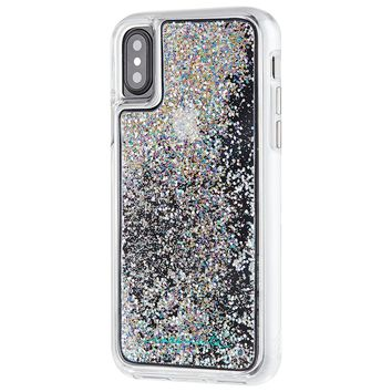Case-Mate iPhone X Case - WATERFALL - Cascading Liquid Glitter - Protective Design for Apple iPhone 10 - Iridescent