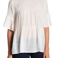 Bobeau | Oversized Tiered Blouse | Nordstrom Rack