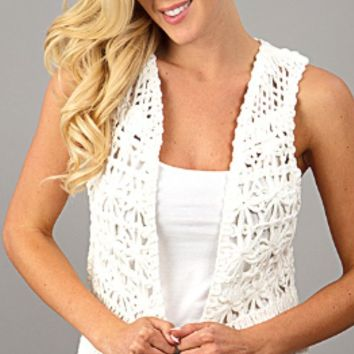 Sleeveless Lace Cover Up