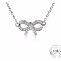 Charming Bow Pendant Necklace