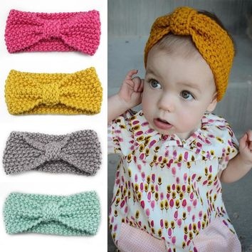 Shop Crochet Bow Headband On Wanelo