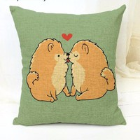 Loving Pomeranian Pillow Case