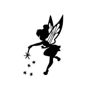 Tinker Bell flying pixie dust vinyl decal sticker