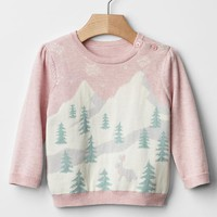 Gap Intarsia Ski Slope Sweater