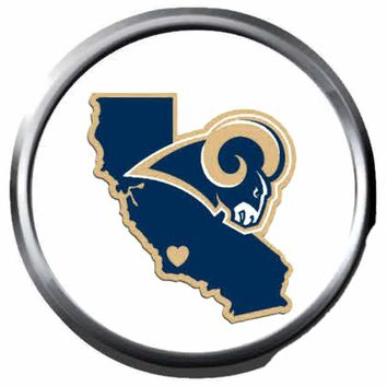 NFL Superbowl LA Rams California Football Fan 18MM-20MM Snap Jewelry Charm New Item