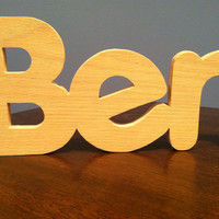 "Personalized 5"" Wooden Letters For Child's Nursery or Home Decor (Price per letter)"