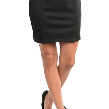 Leatherette Stud Waist Mini Skirt