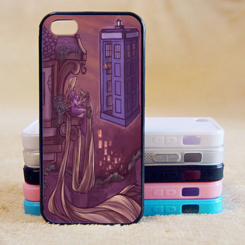 Tangled,Doctor Who,Police Box,Custom Case, iPhone 4/4s/5/5s/5C, Samsung Galaxy S2/S3/S4/S5/Note 2/3, Htc One S/M7/M8, Moto G/X