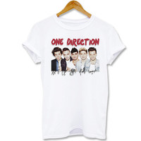 Funny shirt Screenprint T shirt One Direction Glam Signatures for T shirt mens, T shirt girl Size S, M, L, XL, XXL