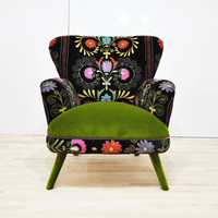 Suzani armchair - green
