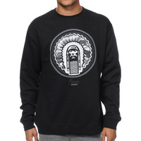 Popular Demand Circle Chief Camo Black Crew Neck Sweatshirt