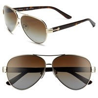Women's Tory Burch 59mm Polarized Aviator Sunglasses (Online Only)