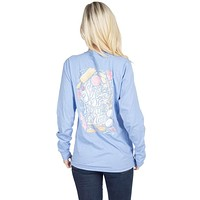 Sugar and Spice Long Sleeve Tee in Polar Blue by Lauren James