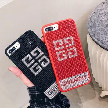 Hot Bling Diamond Givenchy Iphone Iphone X/8 8 Plus/7 7 Plus/ 6 6s Plus Cover Case