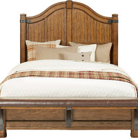 Eric Church Highway To Home Heartland Falls 3 Pc Queen Panel Bed - Beds Dark Wood