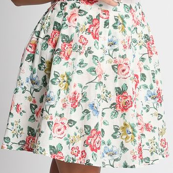 Sophie Floral Pleated Skirt