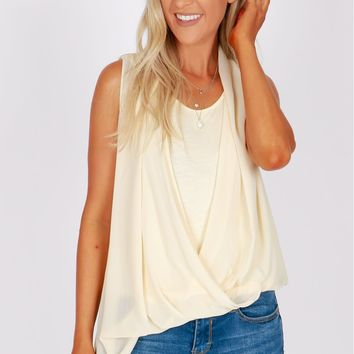 Wrap Top Ivory