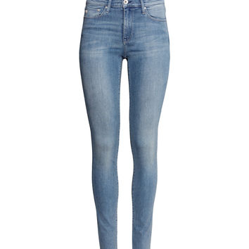 H&M - Shaping Skinny Regular Jeans - Light denim blue - Ladies