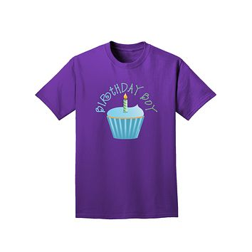 Birthday Boy - Candle Cupcake Adult Dark T-Shirt by TooLoud