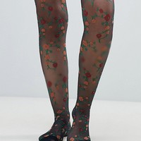 ASOS DESIGN floral tights at asos.com