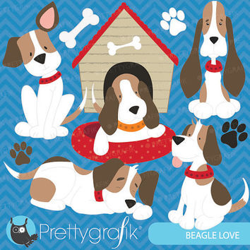 puppy dog clipart commercial use, vector graphics, digital clip art, digital images - CL567