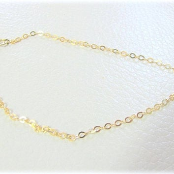 Thin Gold ankle Bracelet, anklet, delicate gold ankle, thin gold bracelet, everyday jewelry, gold anklet, gold bracelet