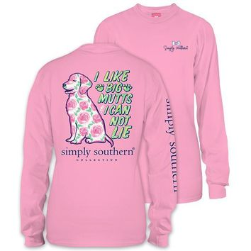 T-Shirt Simply Southern I Like Big Mutts Dog Long Sleeve