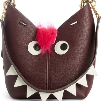 Anya Hindmarch Build a Bag Mini Creature Leather Shoulder Bag with Genuine Shearling | Nordstrom