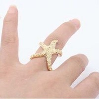 Oh Starfish, My Starfish Ring Gold